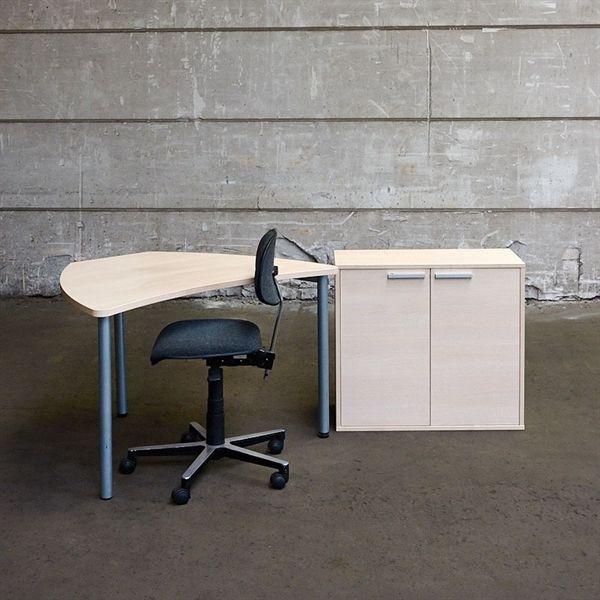 Image of   3R komplet iværksætter arbejdsplads, hvid eg - 1