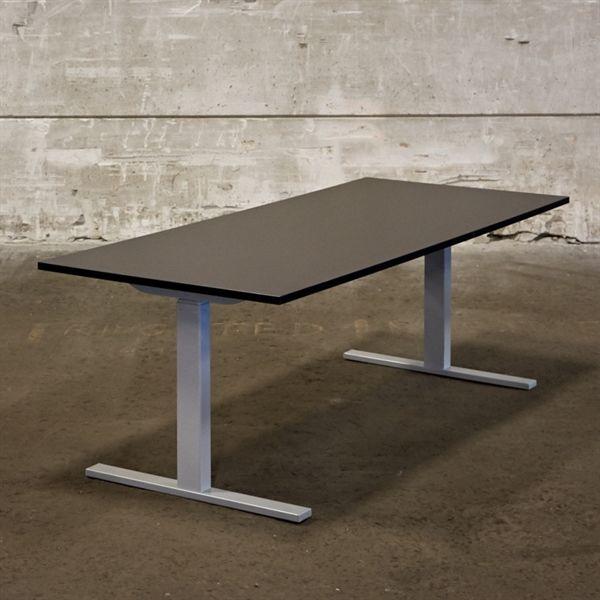 Image of   El hæve sænkebord. Ny sort plade med gråt stel. Mål: 180 x 80 cm. - NYT.
