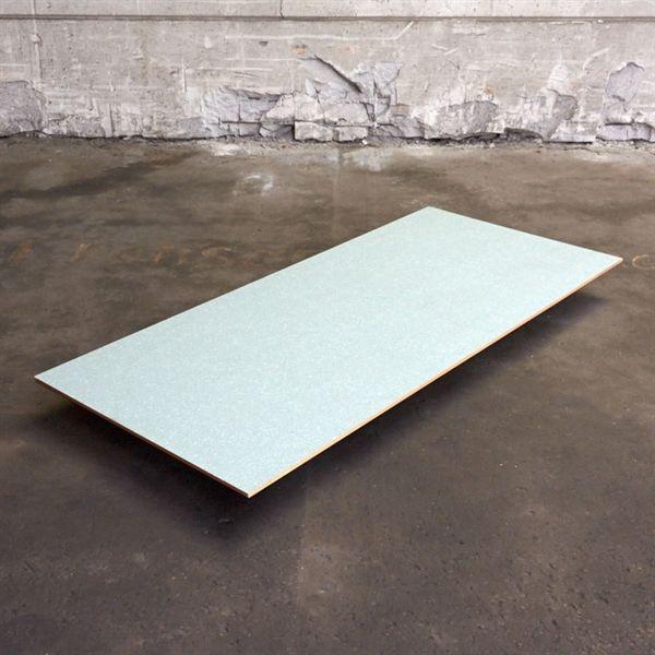 Image of   Bordplade med grå/blå mønster i laminat. 180 x 80 cm.