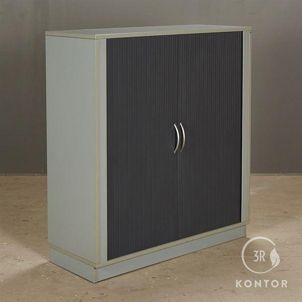 Image of   Cube design kontorskab lysegrå med 2 skydelåger
