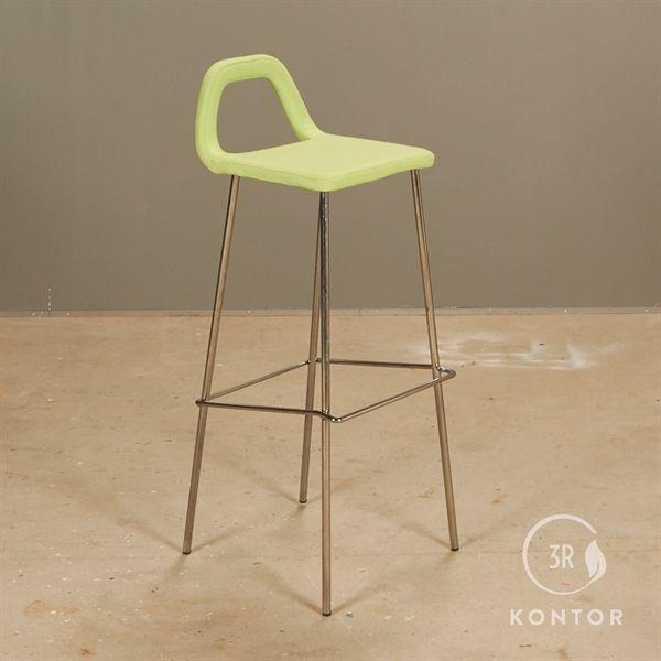 Image of   Barstol, lys grøn tekstil sæde.