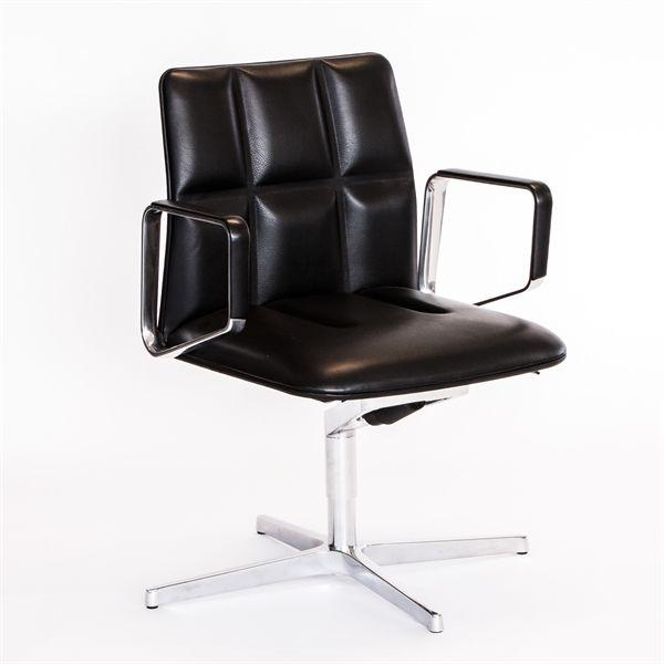 Walter Knoll kontorstol i sort læder