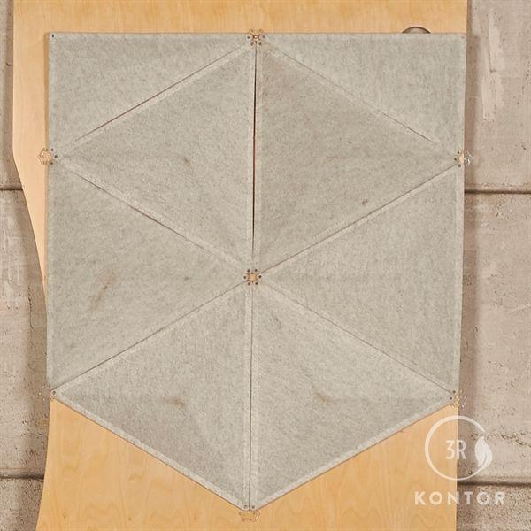 Image of   Abstracta Aircone skærmvæg. Grå - I alt 110 stk.