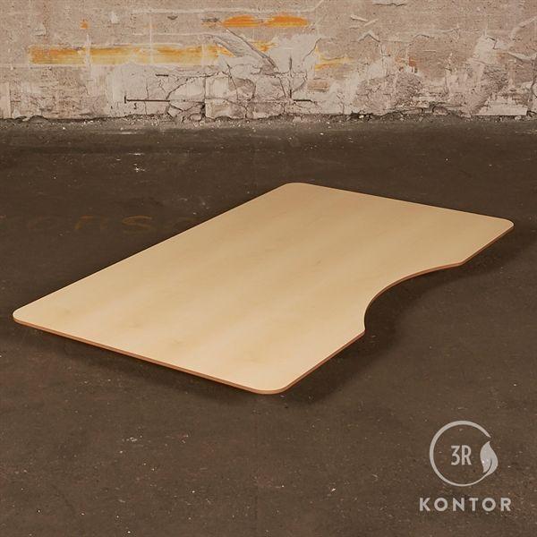 Bordplade - Ahorn - Centerbue - lakeret kant - 160x90