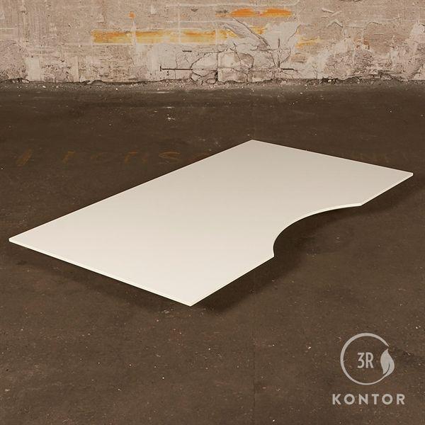 Image of   Bordplade - hvid laminat - centerbue - 160x90