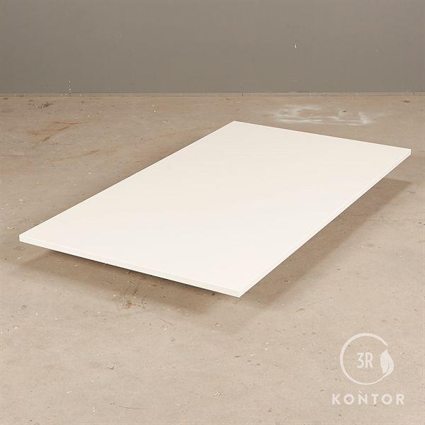 Bordplade i hvid laminat med lige kant - 140x80 - NY