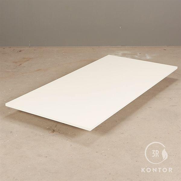 Bordplade i hvid laminat med lige kant - 160x80 - NY