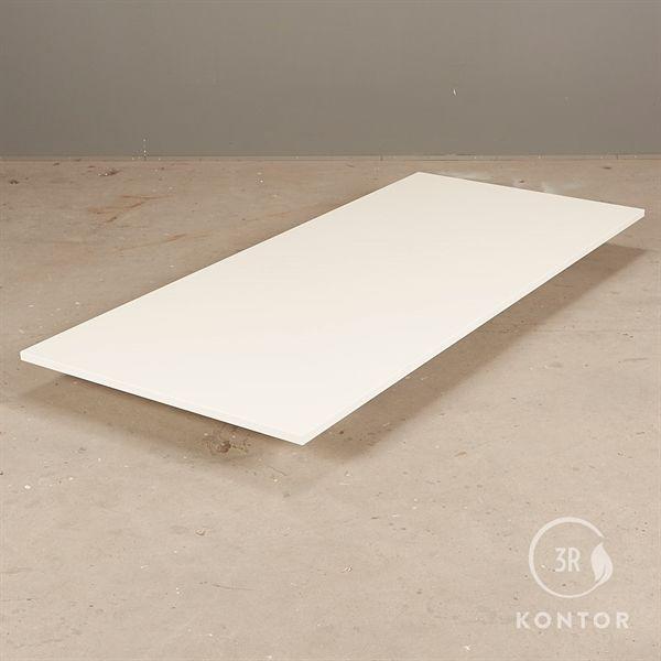 Bordplade i hvid laminat med lige kant - 180x80 - NY