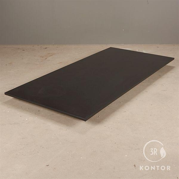 Bordplade i sort laminat med lige kanter - 200x100 - NY