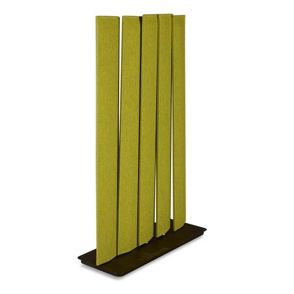 Image of   Buzzi Space Skillevæg i grøn filt, 5 drejelige stolper.