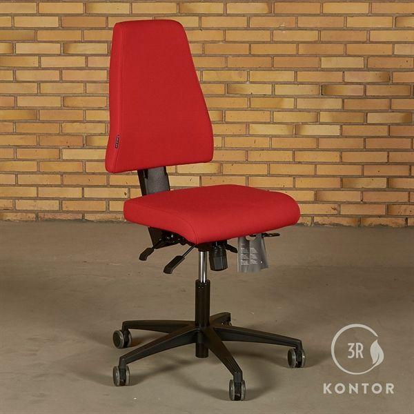 Image of   Duba B8 kontorstol i rødt stof. Sort fod.