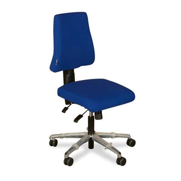 Image of   Duba B8 Sola kontorstol i blåt stof.