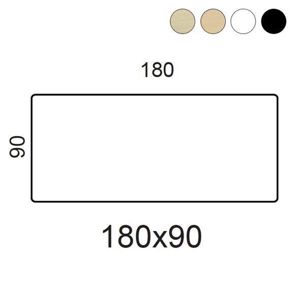 Bordplade. Fås i ahorn finer, bøg finer, hvid laminat, sort laminat og sort linoleum.
