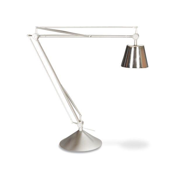 FLOS Archimoon K, bordlampe, sølvgrå metal.