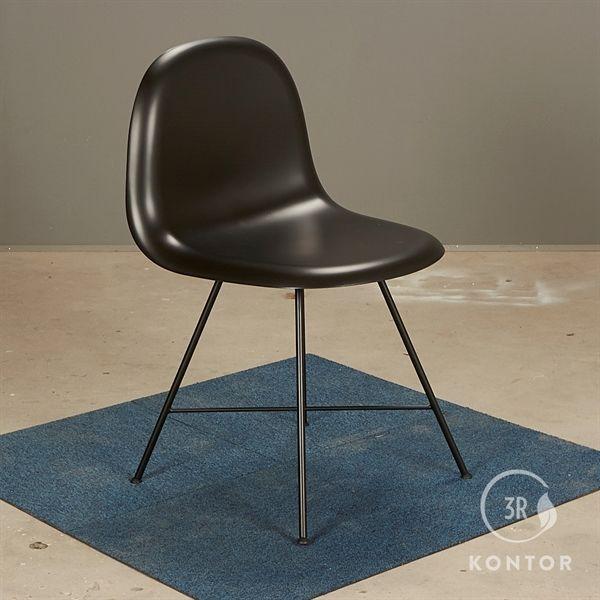 Image of   GUBI 3D Dining chair i sort plastic skal - NY