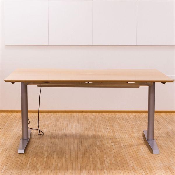 Image of   Hæve sænkebord. Bøg med centerbue. 160x80