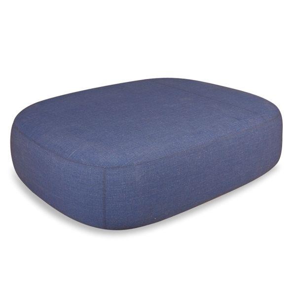 Image of   +Halle loungepuf i blåt stof. 165x130