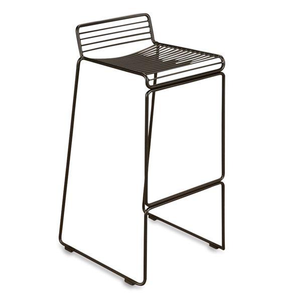 Image of   HAY Hee Bar barstol i sort metal. Højde 75 cm
