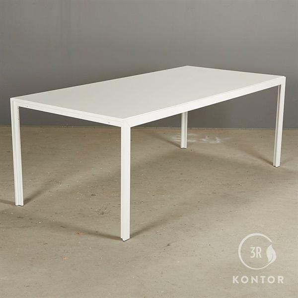 Billede af HAY Tango konferencebord. Hvid plade, hvidt stel. 200x95