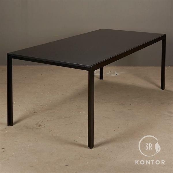 Billede af HAY Tango konferencebord. Sort plade, sort stel. 200x95 - NY