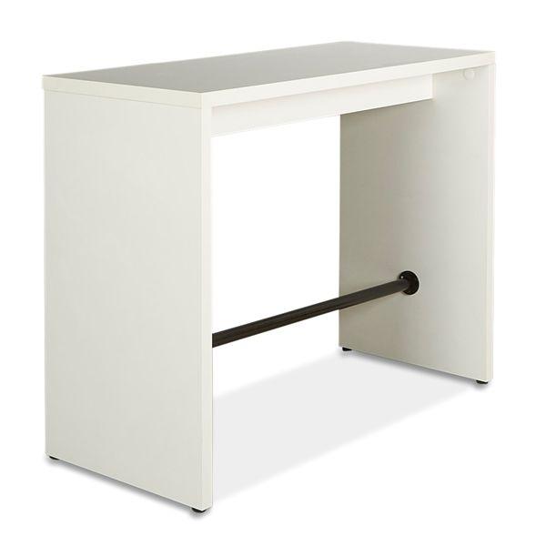 Image of   Højbord. Hvid laminat med sort afstiver i bunden. 140x60