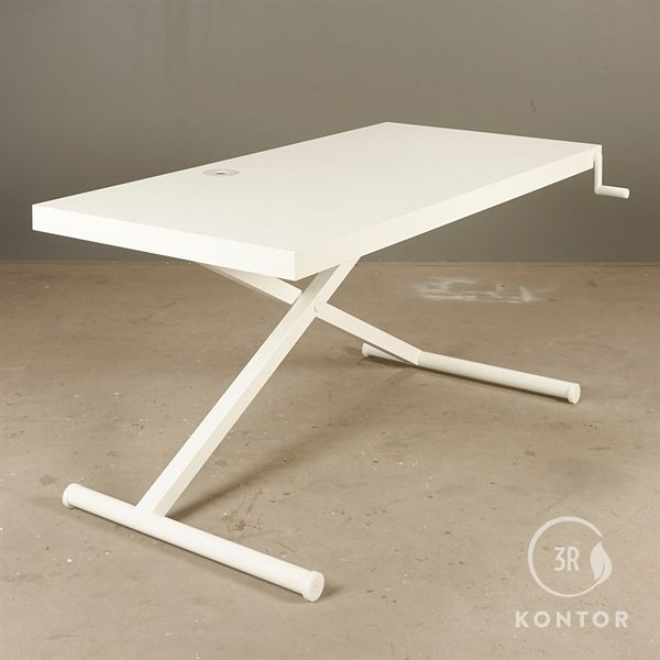 Holmris X-Table i hvid nano laminat 160x80
