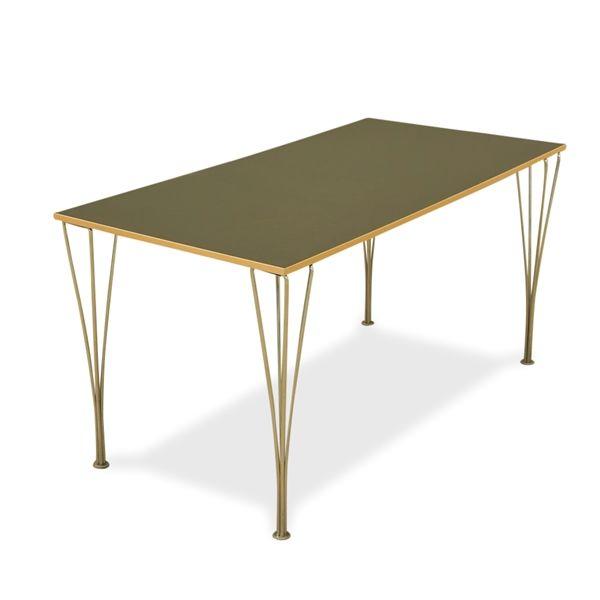 Kantinebord. Mørkegrå laminat, Fritz Hansen ben. 140x70