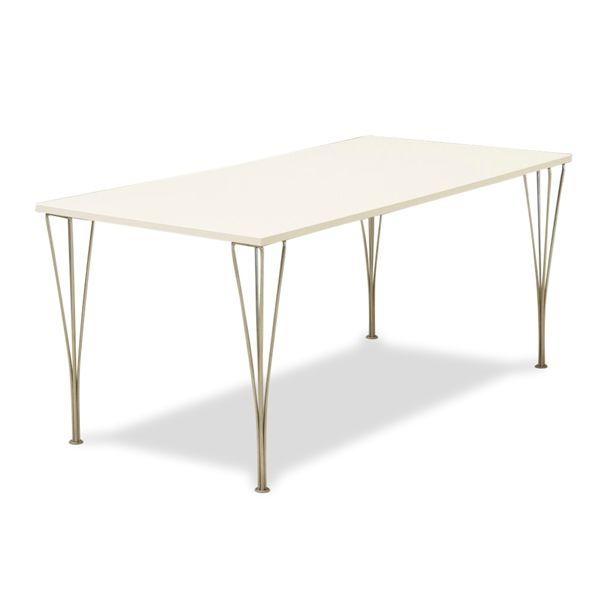 Kantinebord. hvid laminat, Fritz Hansen trådben, 160x80