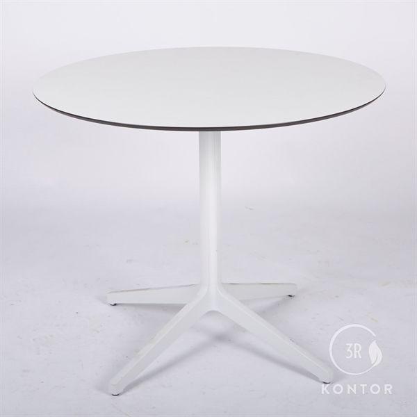 Image of   Kantinebord, hvid top og hvid søjle. Ø89