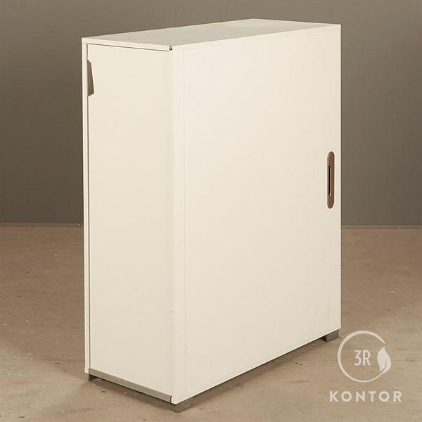 Image of   Kontorskab. Endeudtræk i hvid laminat, genese håndtag.