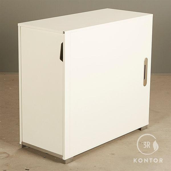 Image of   Kontorskab. Hvid med endeudtræk. Højrevendt. Højde: 83 cm