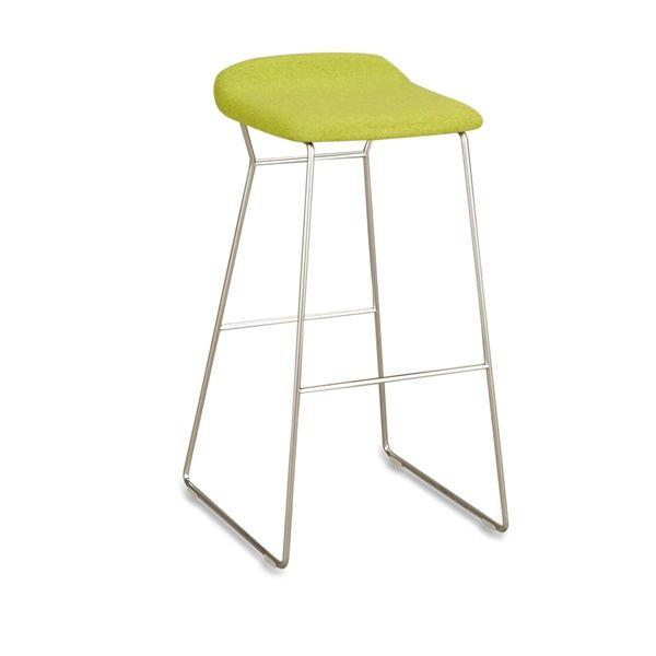 Image of   Modus barstol med polsteret sæde i uld H81