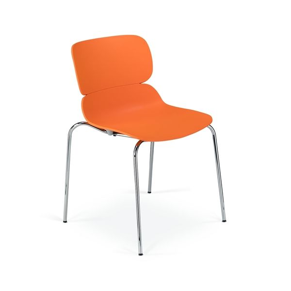 Image of   Molo konferencestol. Orange plastic. Krom stel. NY
