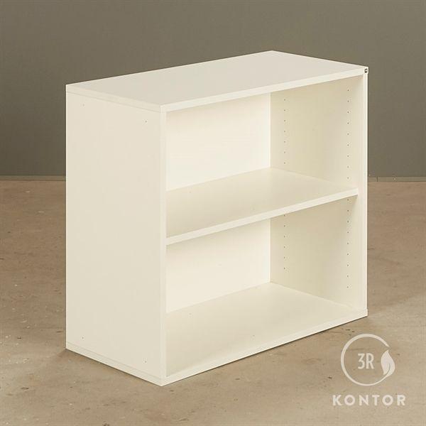 Reol, åben med 2 rum i hvid laminat fra Holmris