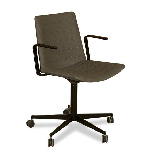 Strato chair, konferencestol. Grå med armlæn.