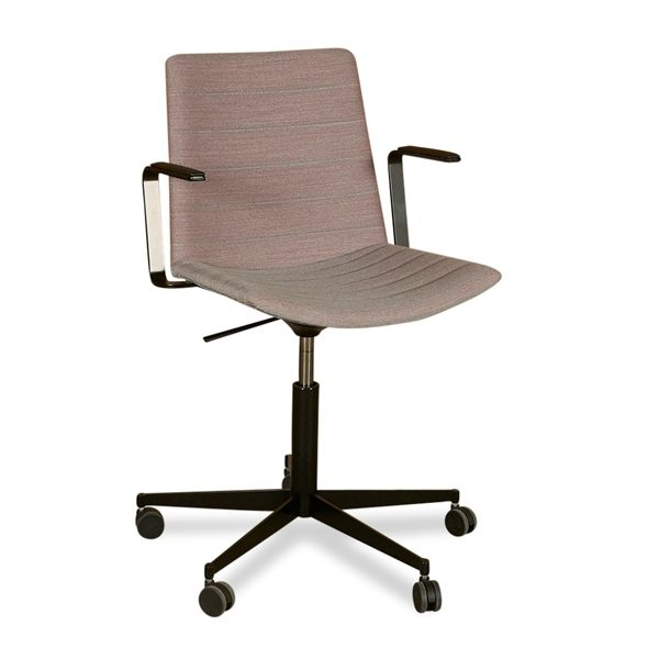 Strato chair, konferencestol. Mat lilla, sort stel.