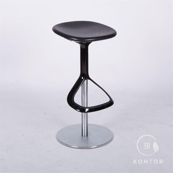Image of   Walter Knoll Lox barstol, sort læder