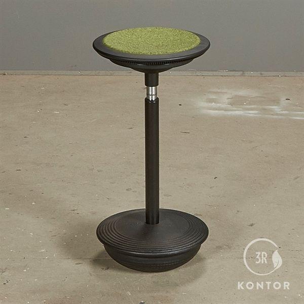 Image of   Wilkhahn Stitz 2 ergonomisk stol. Sort med grønt filt sæde.